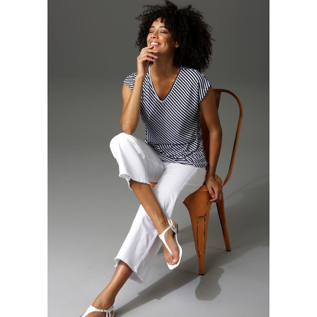 Aniston CASUAL 7/8-Jeans, mit leicht ausgefranstem Beinabschluss - NEUE KOLLEKTION