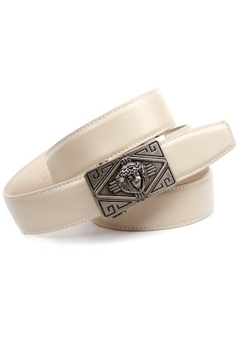 Anthoni Crown Ledergürtel, Automatik Ledergürtel, Schließe mit Kreuz kaufen