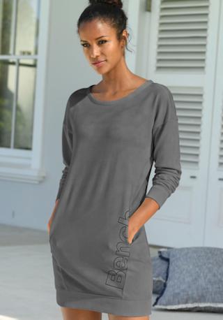 Bench. Sweatkleid mit Rundhalsausschnitt online kaufen | BAUR
