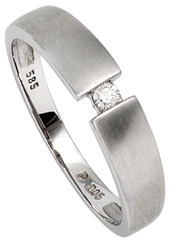 JOBO Solitärring, 585 Weißgold mit Diamant 0,05 ct. kaufen