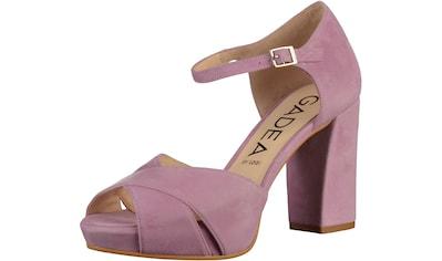 GADEA High-Heel-Sandalette »Veloursleder« kaufen