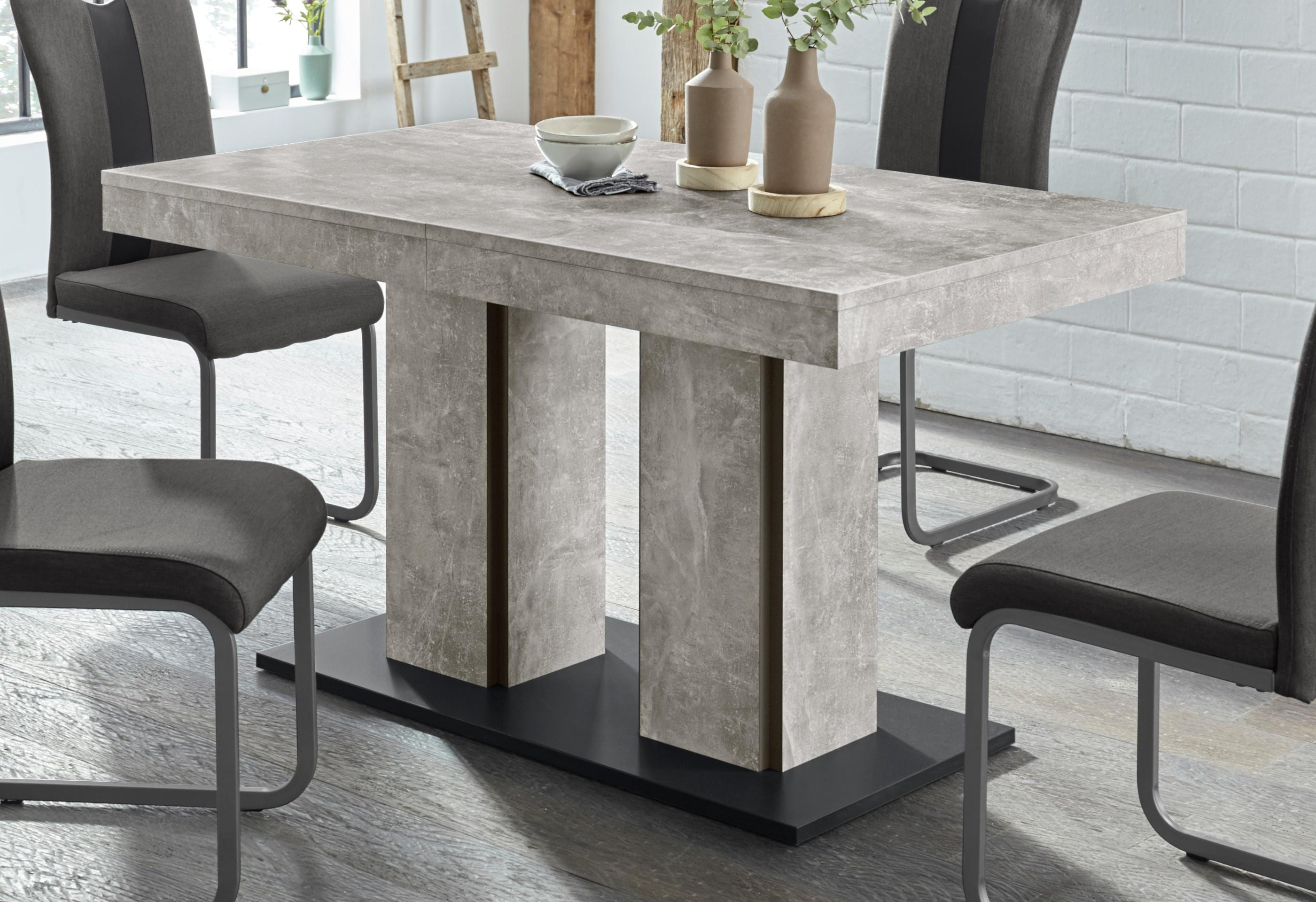 HELA Esstisch ROSE grau Esstische rechteckig Tische Tisch