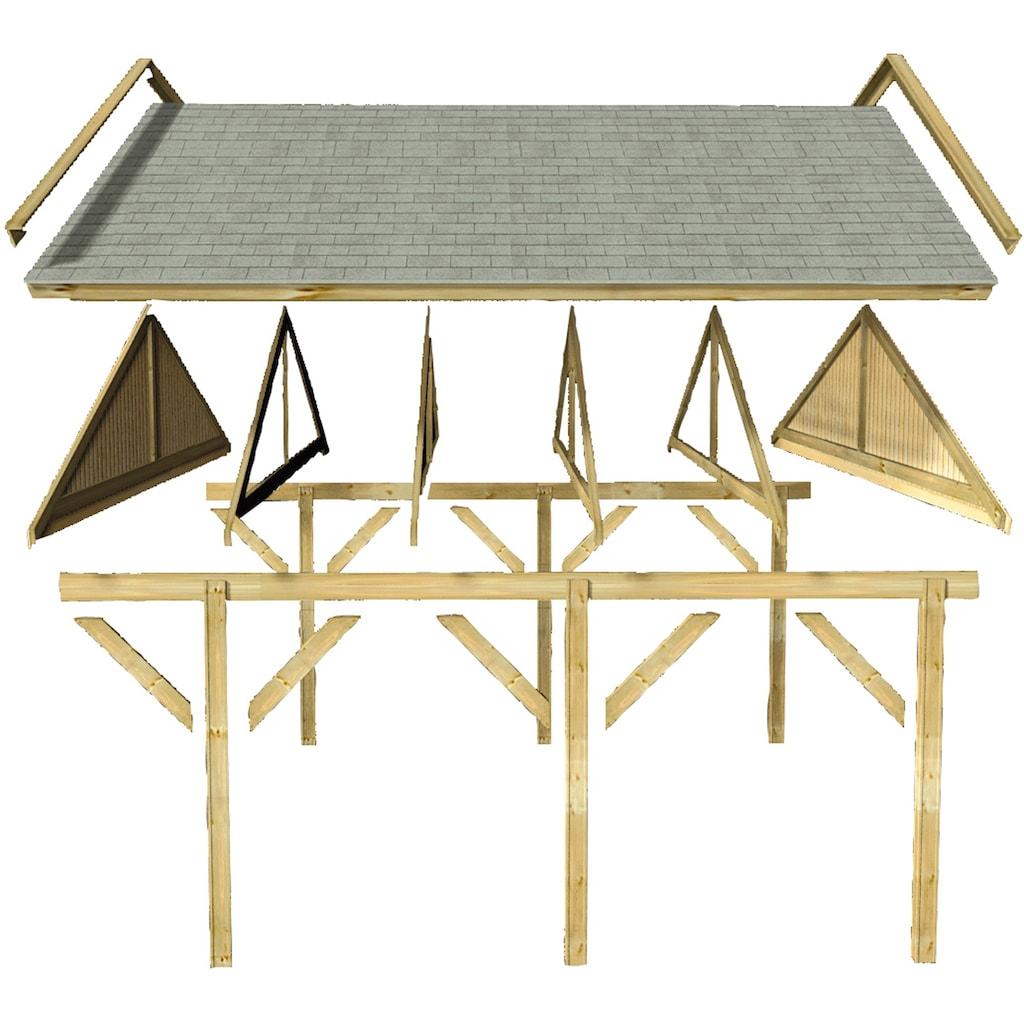 Karibu Einzelcarport »Classic 1«, Holz, 250 cm, braun