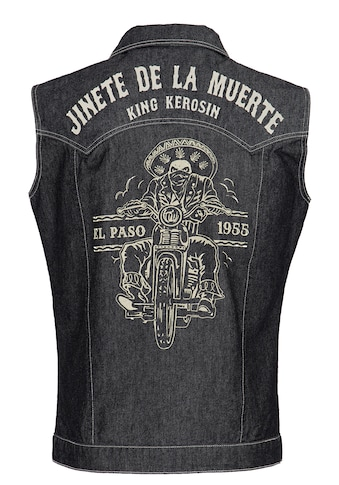 KingKerosin Jeansweste »Jinete de la Muerte«, im Western-Stil kaufen