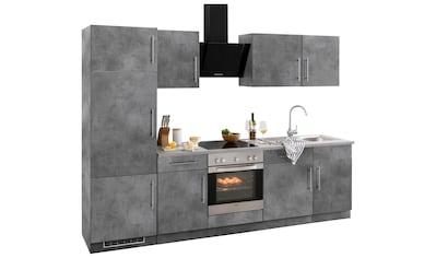 wiho Küchen Küchenzeile »Cali«, mit E - Geräten, Breite 280 cm kaufen