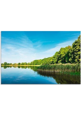 Artland Wandbild »Landschaft mit See in Potzlow«, Gewässer, (1 St.), in vielen Größen... kaufen