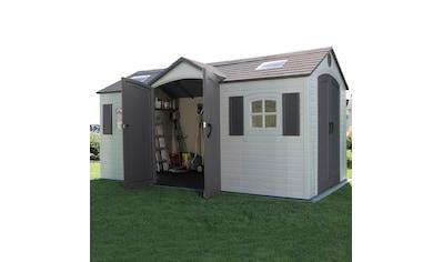 LIFETIME Set: Kunststoffhaus »Residenz«, BxT: 457x244 cm, inkl. Fußboden, Regale und Geräteleiste kaufen