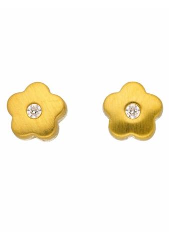 Adelia´s Paar Ohrstecker »333 Gold Ohrringe / Ohrstecker Blüte mit Zirkonia«,... kaufen