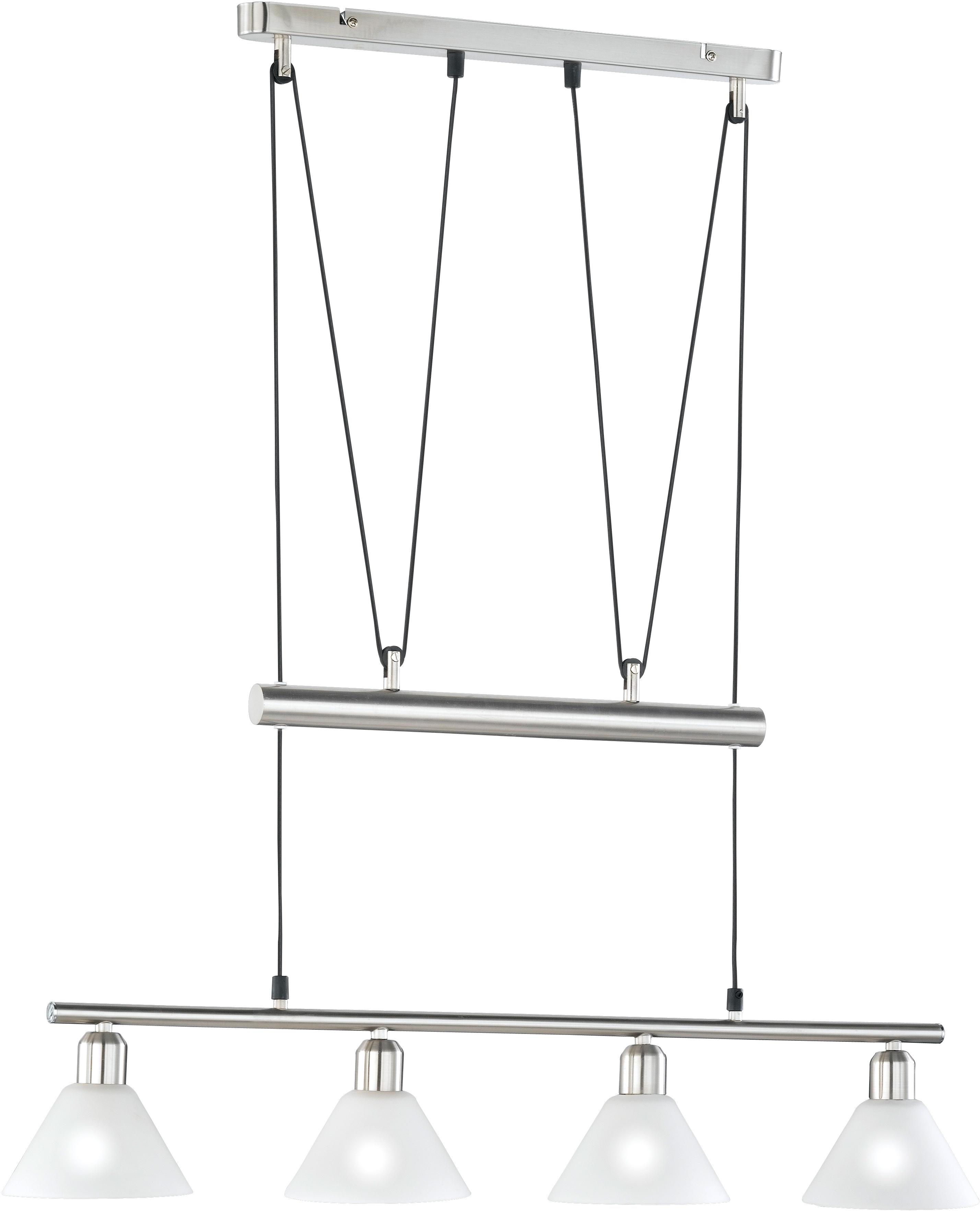 TRIO Leuchten Pendelleuchte Stamina, E14, Hängeleuchte, Hängelampe, höhenverstellbar
