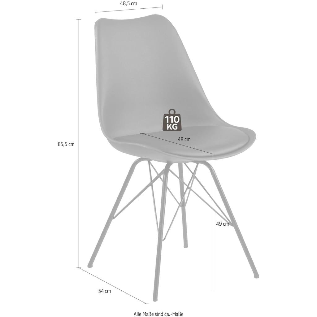andas Esszimmerstuhl »Edel«, mit schönen Metallbeinen, in zwei verschiedenen Bezugsqualitäten und weiteren Farbvarianten