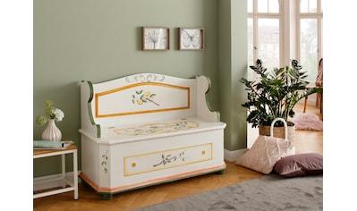 Premium collection by Home affaire Truhenbank »Lemon«, (1 St.), aus schönem massivem Fichtenholz, mit einzigartiger Handbemalung, Breite 117 cm kaufen
