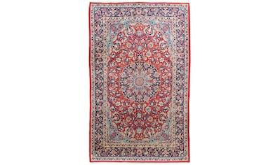 morgenland Wollteppich »Najafabad Teppich handgeknüpft rot«, rechteckig, 12 mm Höhe kaufen