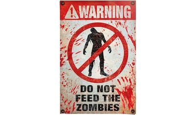 Reinders! Poster »Warning! Do Not Feed The Zombies«, (1 St.) kaufen