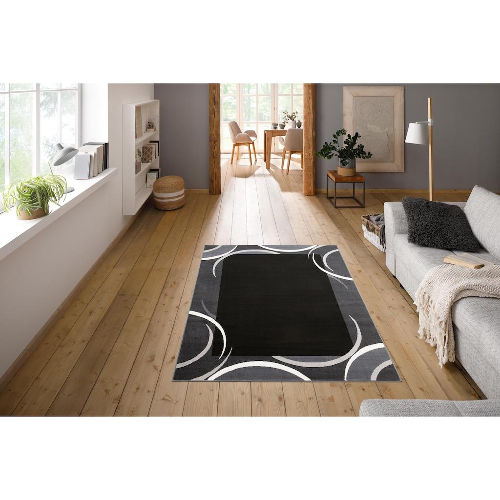 my home Teppich »Noah«, rechteckig, 7 mm Höhe, mit Bordüre, Wohnzimmer
