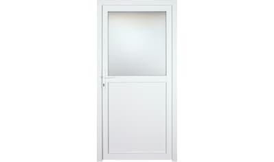 KM MEETH ZAUN GMBH Nebeneingangstür »K602P«, BxH: 98x198 cm, weiß, rechts kaufen