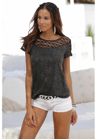 Vivance T-Shirt, mit weicher Häkelspitze kaufen