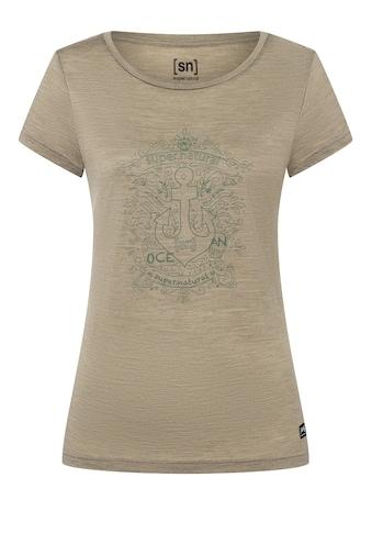SUPER.NATURAL T-Shirt »W EXPLORE THE SEA TEE«, geruchshemmender Merino-Materialmix kaufen