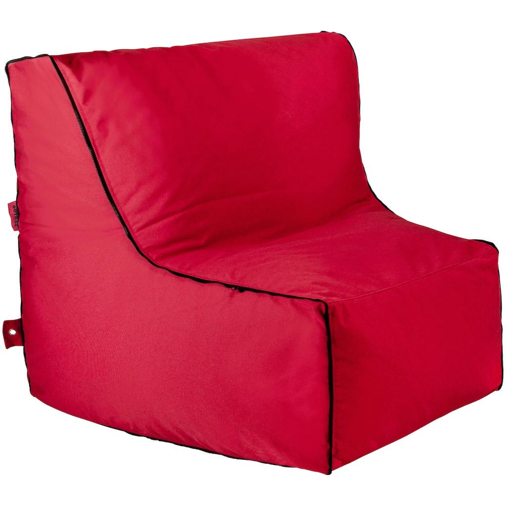OUTBAG Sitzsack »Piece w/zipper Plus«, wetterfest, für den Außenbereich, BxT: 90x115 cm