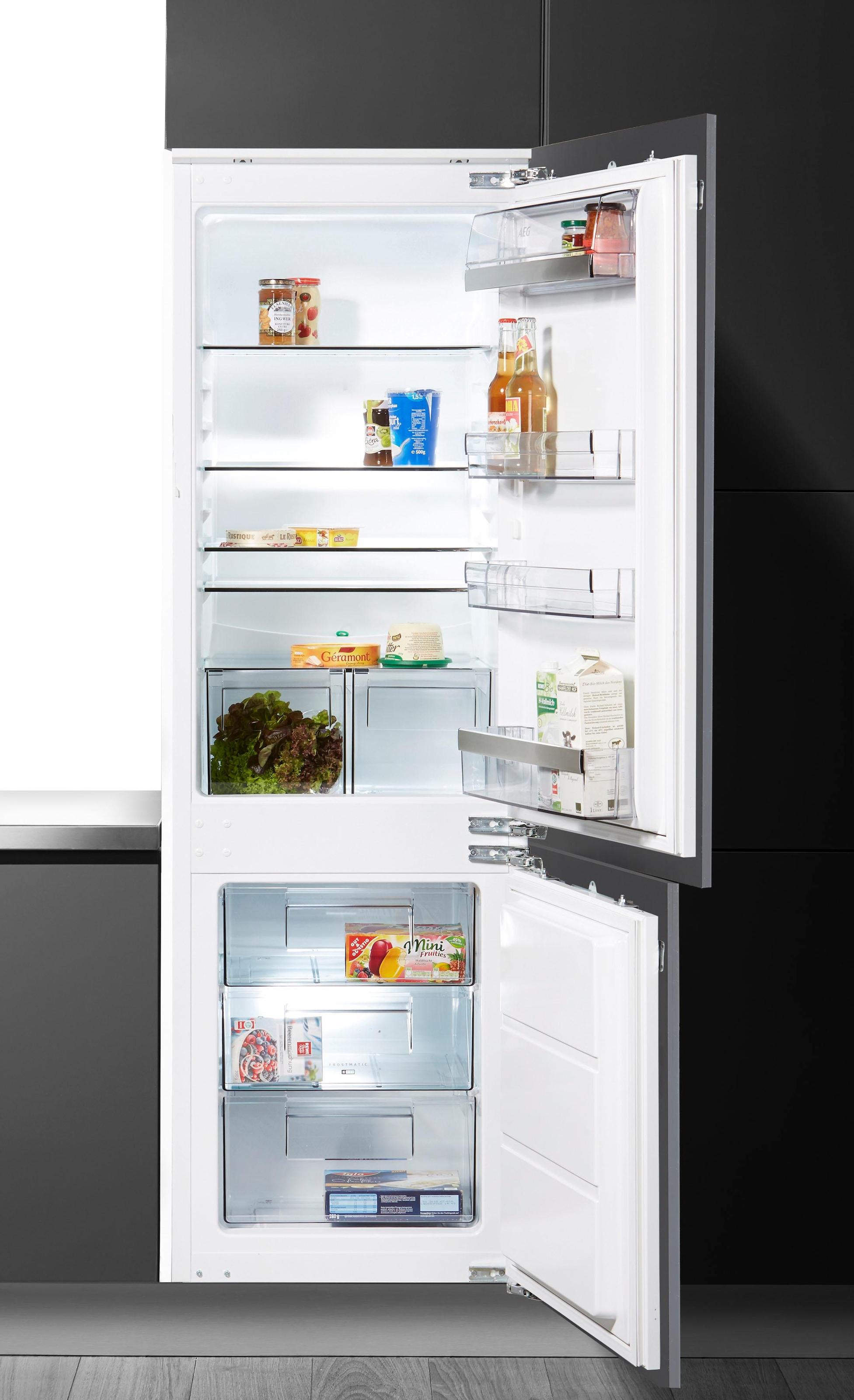 Aeg Kühlschrank Gefrierkombination : Aeg einbau kühl gefrierkombination santo scb lf cm