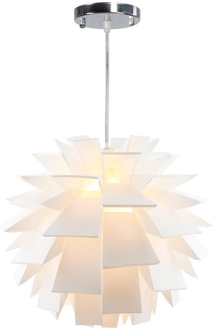 SalesFever Hängeleuchte Jacob, E27, 1 St., Lampenschirm aus Kunststoffelementen in Falt-Optik