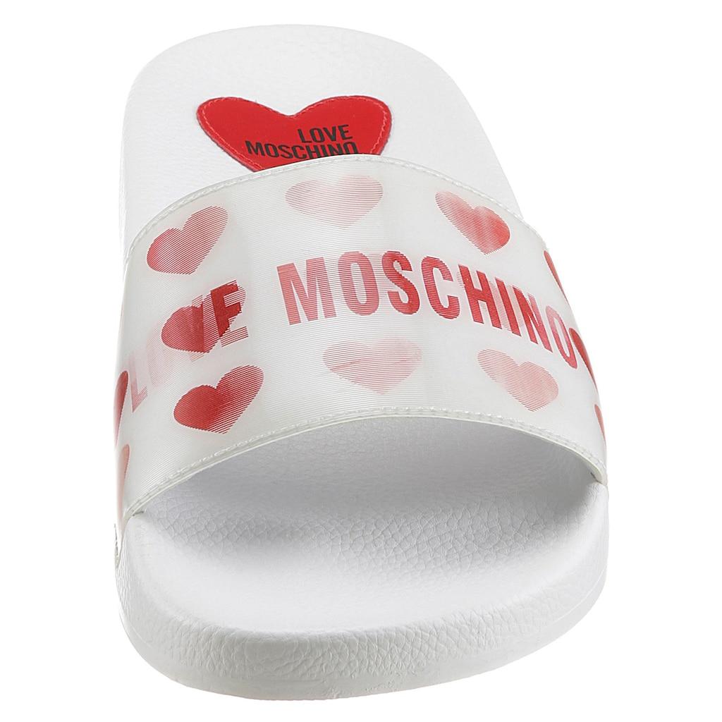 LOVE MOSCHINO Badepantolette, mit Effekt-Bandage