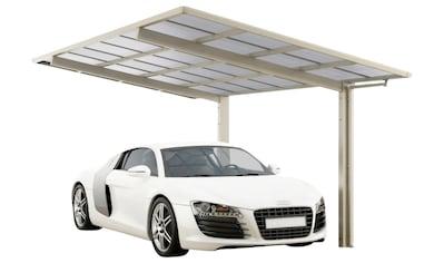 Ximax Einzelcarport »Linea Typ 60 Standard-Edelstahl-Look«, Aluminium, 257 cm,... kaufen
