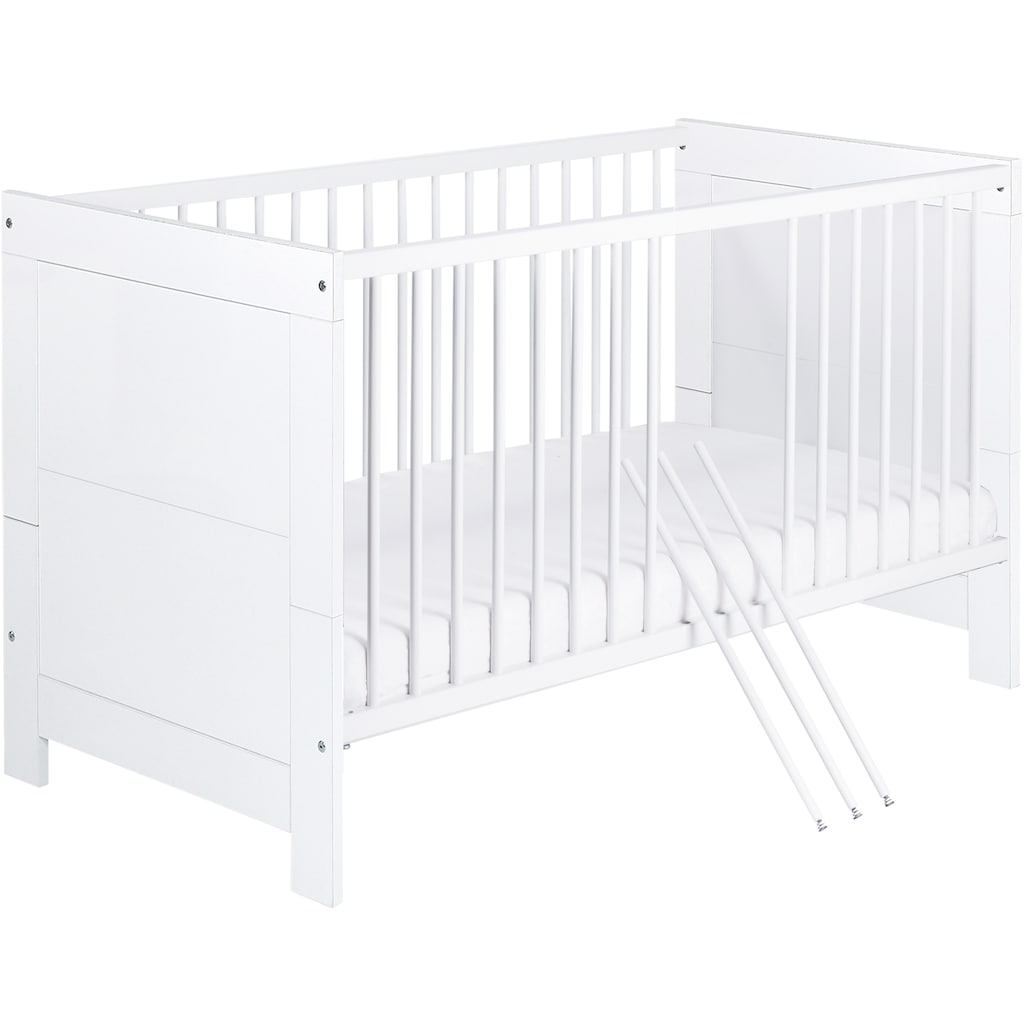 Schardt Babymöbel-Set »Nordic White«, (Spar-Set, 2 St.), mit Kinderbett und Wickelkommode; Made in Germany