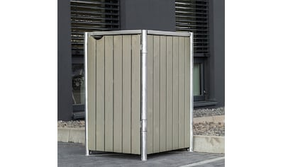 HIDE Mülltonnenbox für 1 x 240 l, grau/natur kaufen